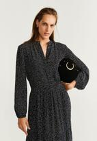 MANGO - All over print dress - black