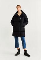 MANGO - Anorak jacket - black