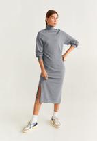 MANGO - High neck dress - grey