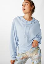 Cotton On - Relaxed hoodie - skye blue marle