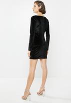 Blake - Velvet mini dress - black