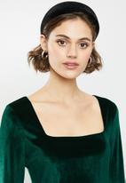 Blake - Velvet mini dress - green