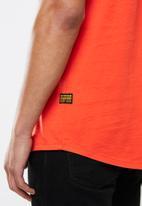 G-Star RAW - Lash tape tee - orange
