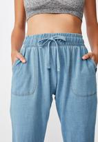 Cotton On - Washed gym trackpant - blue
