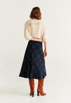 MANGO - Harry print detail skirt - green & navy