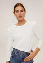 MANGO - T-shirt doris - cream