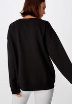 Cotton On - Long sleeve fleece crew top - winter black