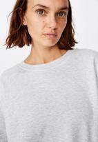 Cotton On - Long sleeve fleece crew top - winter grey marle
