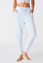 Cotton On - Supersoft slim fit pant - blue