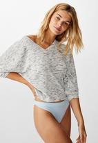 Cotton On - Soft waffle sleep top - grey