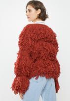 Glamorous - Shaggy knit- rust