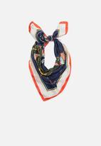 Superbalist - Square vintage print neckerchief - multi