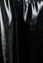 Blake - Vinyl skater mini skirt - black