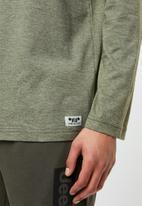 JEEP - Script long sleeve tee - khaki green