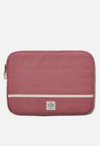 Typo - Canvas 13 inch laptop case - pink