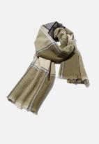 Rubi - Mya mid weight scarf - khaki check