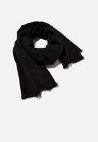 Rubi - Mya mid weight scarf - black
