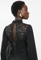 MILLA - Lace combo dress - black
