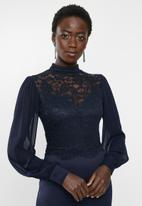 MILLA - Lace combo dress - navy