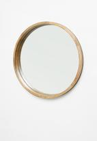 Sixth Floor - Round wood mirror - natural