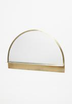Sixth Floor - Luna shelf mirror - gold