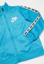 Nike - Nike block taping tracksuit set - blue & white