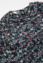 Rebel Republic - Girls floral dress - navy