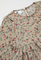 Rebel Republic - Girls floral dress - stone