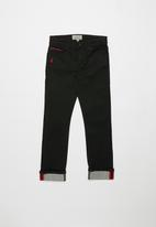 POLO - Boys Jason coated slim fit jean - black