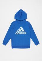 adidas Performance - Adidas boys long sleeve hoodie - blue