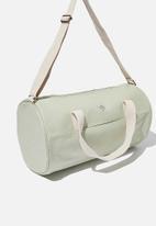 Typo - Canvas barrel bag - sage