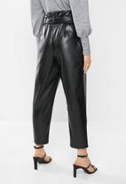 VELVET - Pleather pants - black