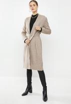 VELVET - Midi robe cardi - mocca