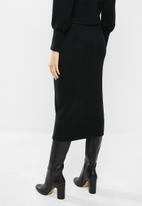 VELVET - Knit bodycon skirt - black