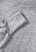 VELVET - Puff sleeve knit top - grey