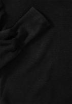 VELVET - Puff sleeve knit top - black