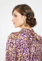 VELVET - Tiered maxi dress - pink & purple