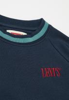 Levi's® - Levis textured crewneck - navy