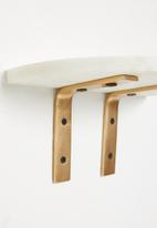 Sixth Floor - Davi marble shelf - white