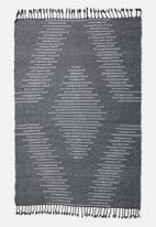Sixth Floor - Waves woven rug - grey