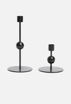 Sixth Floor - Satsuki candle holder set - black