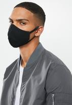 Superbalist - Geo shape and black mask 2 pack - black & white