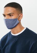 Superbalist - Pattern and plain mask 2 pack - multi & denim blue