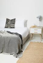 Sixth Floor - Striped knitted throw - black & white