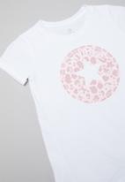 Converse - Leopard legging set & peplum - white & pink