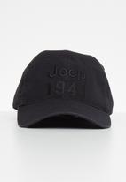 JEEP - Basic washed canvas cap - black