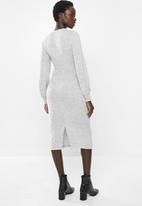 MILLA - Cut & sew tie dress - grey