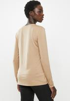 POLO - Bianca long sleeve luxe stretch tee - beige
