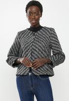 edit - Tweed jacket - black