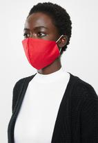 Superbalist - Pattern and plain mask 2 pack - multi & red